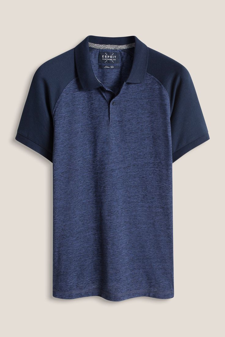 Esprit - Blended cotton jersey material mix polo at our Online Shop