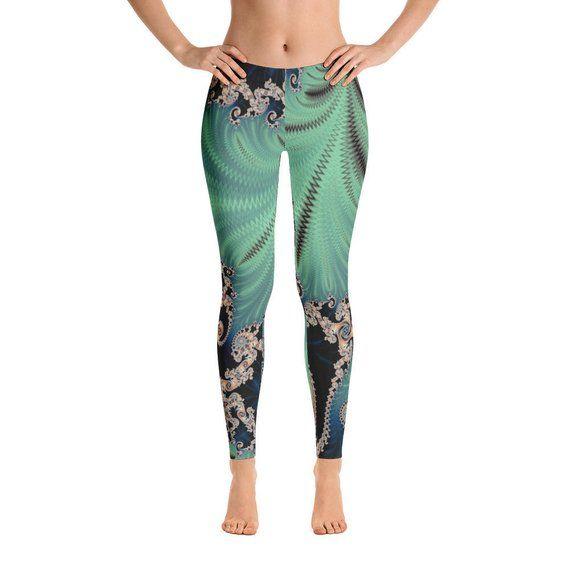 bb02ffbaa4a Mint Green and Blue Women s Leggings