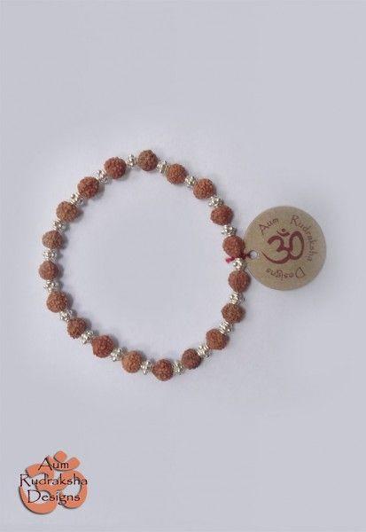 Rudraksha bracelet with sterling silver beads  #aum #rudraksha #beads #bracelet #jewellery #silver #bali