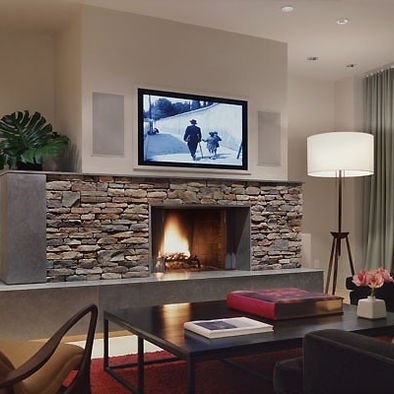 tv above fireplace design  pictures  remodel  decor and TV above Fireplace Decorating Ideas TV Fireplace and Contemporary Designs