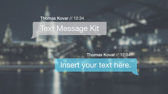 After Effects Text message kit Technology