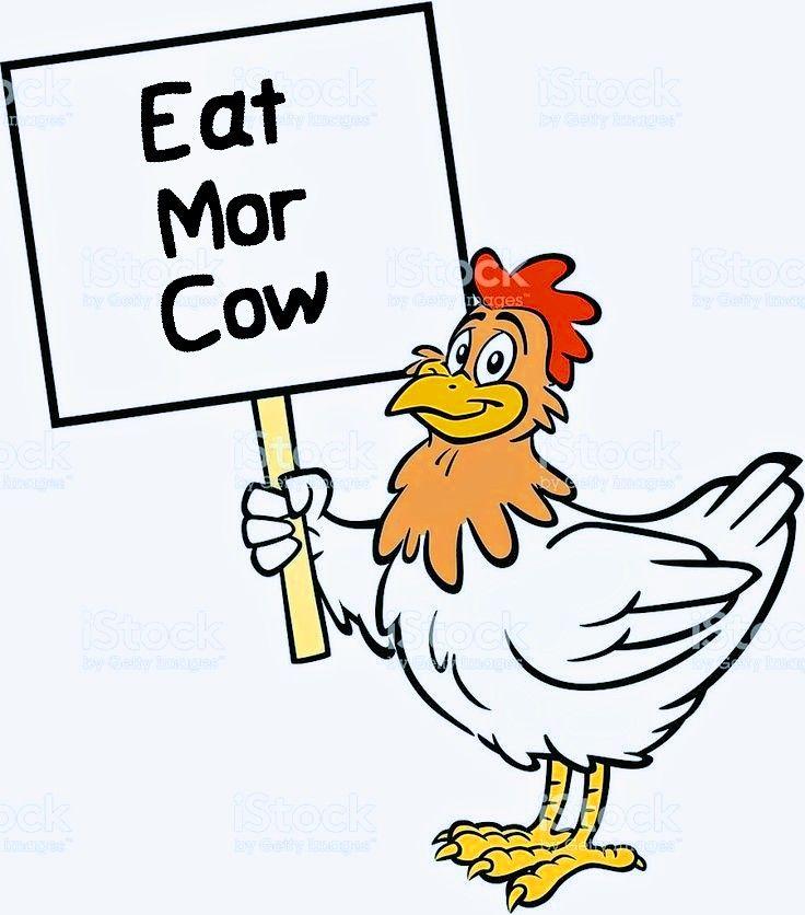 eat more cow funny cartoon chicken beef in 2020 cartoon chicken cartoon cow cow funny cartoon chicken beef