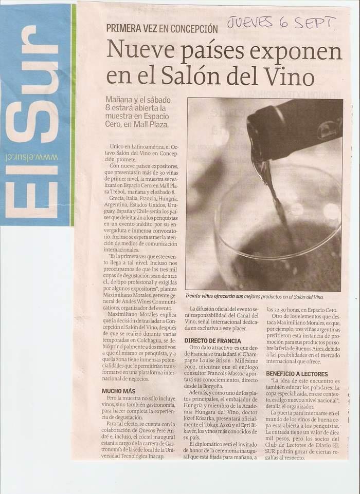 Salon del Vino en Concepcion Diario el Sur