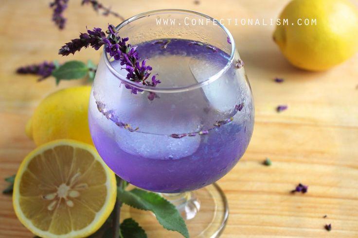 Coconut Lavender Lemonade recipe summer drinks confectionalism.com
