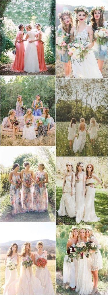 Bohemian Bridesmaid Dresses Ideas