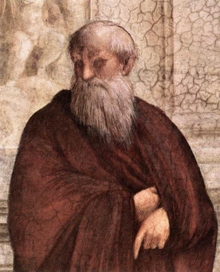 Raffaello-Scuola di Atene(dettaglio Plotino ),Stanza della Segnatura,Musei Vaticani