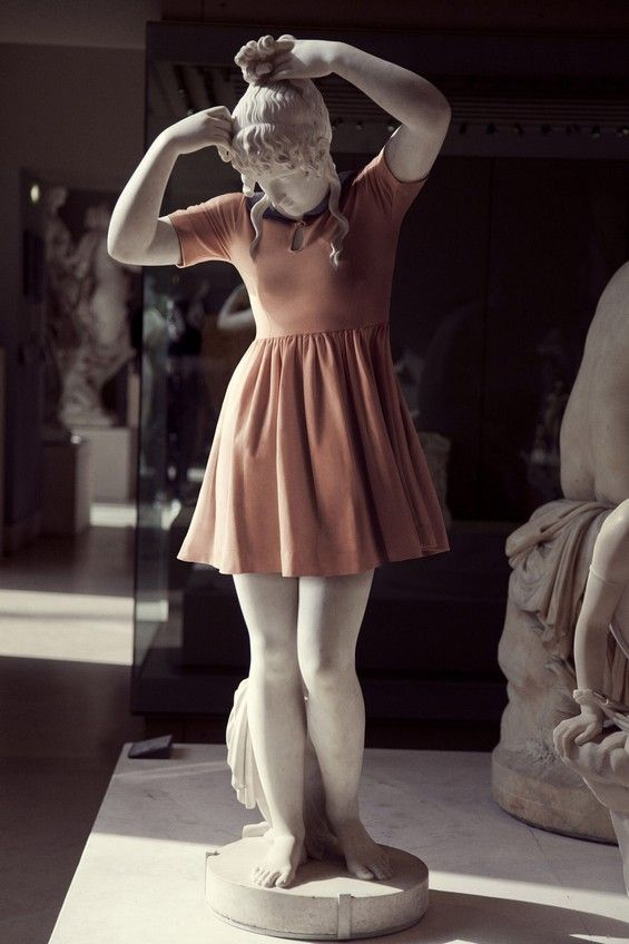 Classical marble sculptures dressed in modern clothes  by Léo Caillard and Alexis Persani