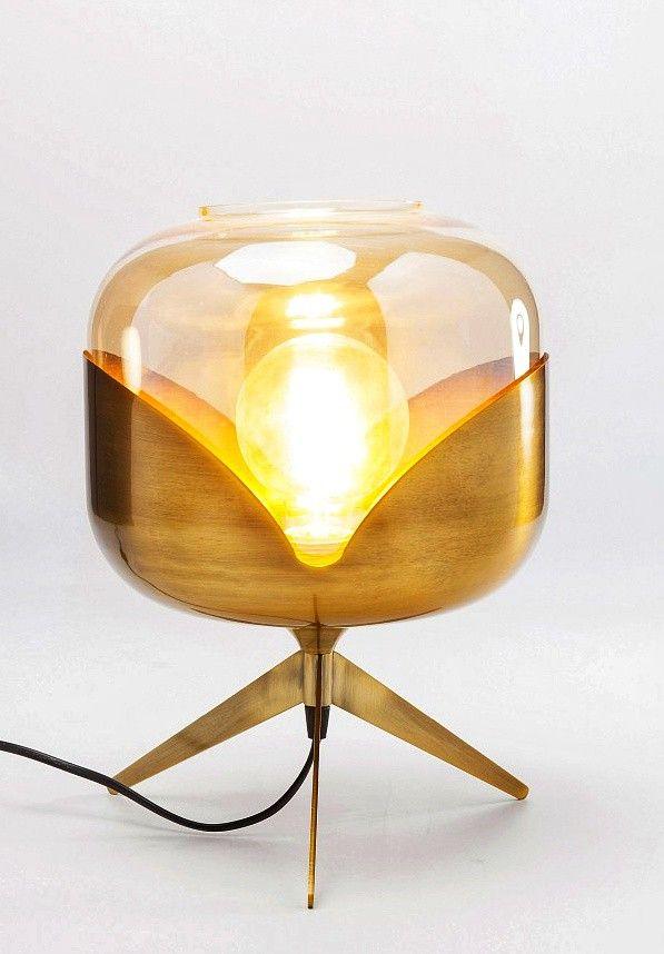 Lampe Schwarz Gold Tischlampe