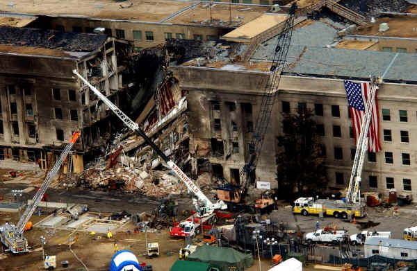On September 11, 2001, American Airlines Flight 77 was hijacked and crashed into the west side of the Pentagon in Arlington, Virginia. One hundred eighty-nine people were killed.