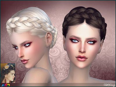 The Sims 4 by Kasia: Plecione włosy