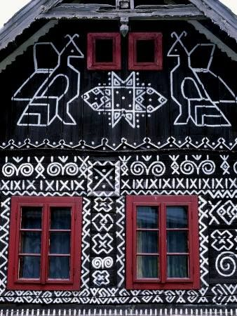 Slovakia, Čičmany Painted Village