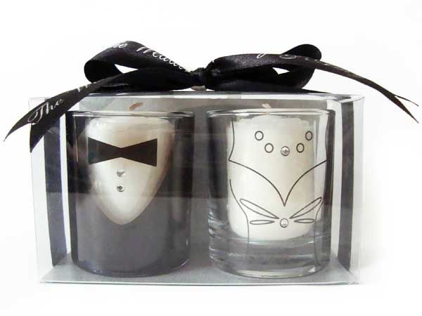 Tuxedo and Gown Candle Holder,marco mario souvenir, wedding souvenirs, souvenir pernikahan