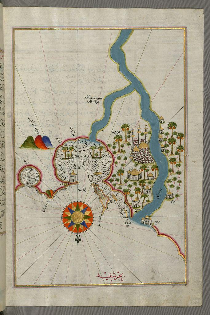 Cyprus Map Vector%0A Illuminated Manuscript  Map of the city of Damietta  Shahri Dumy  d  on