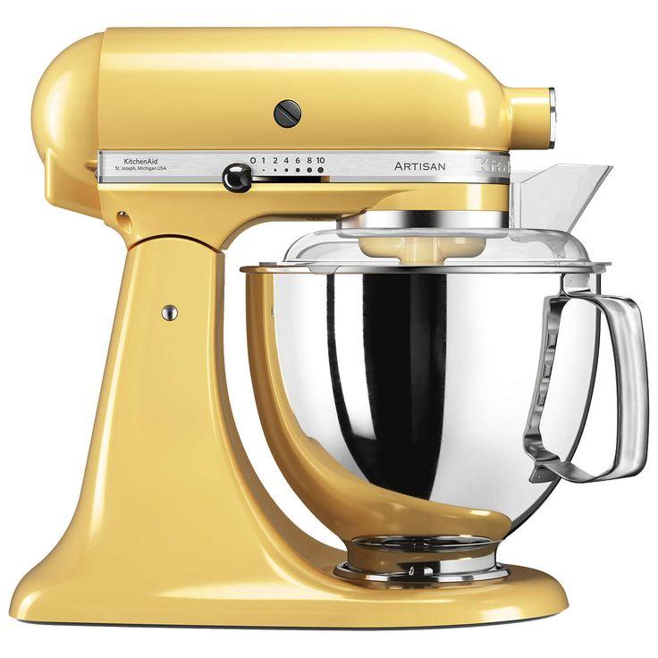 BuyKitchenAid 175 Artisan 4.8L Stand Mixer, Majestic Yellow Online at johnlewis.com