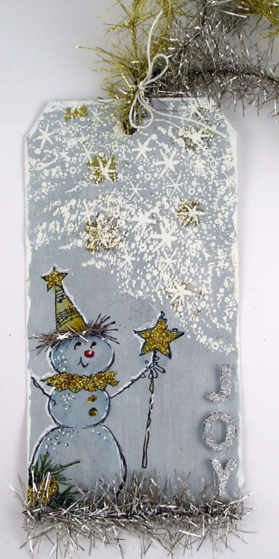 Adorable tag from @Suzanne featuring #Stampendous Magical Snowman,