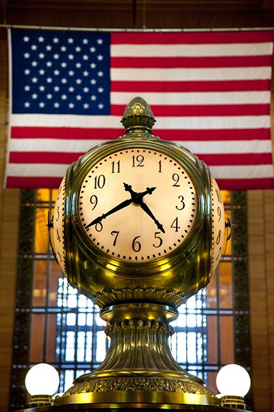 Brass Clock inside Grand Central Terminal, New York City