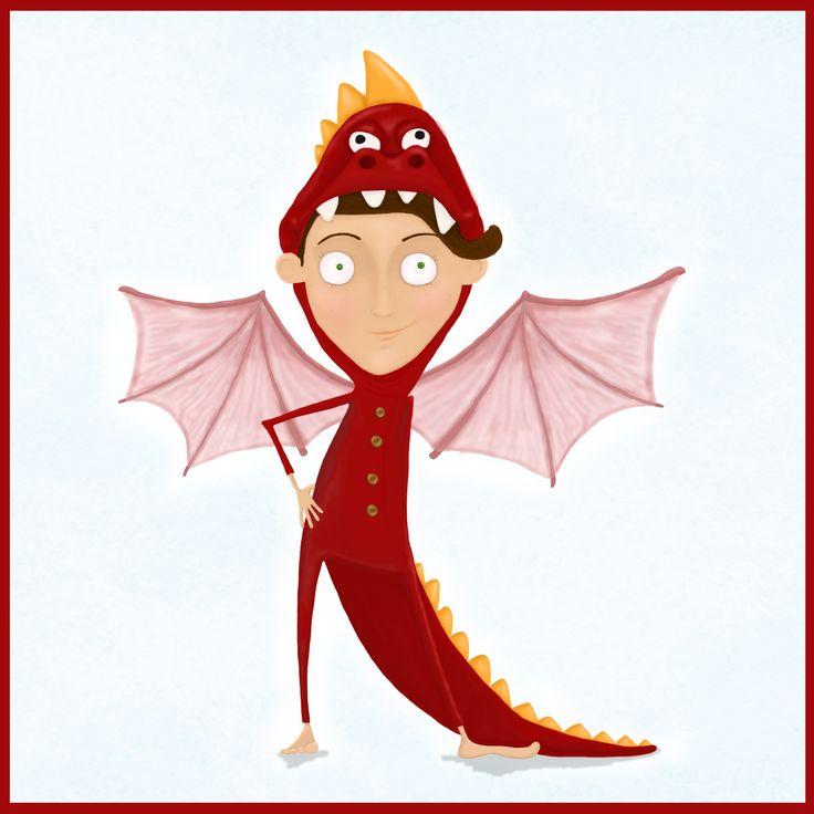 hoxe quero ser un dragón!