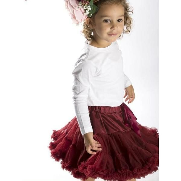 Kids Petticoat Tutu Skirt - Cherise Red. Christmas outfit. Birthday outfit. Princess. Special Occassion