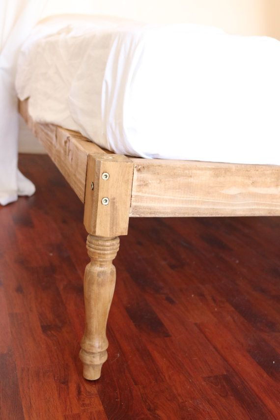 Rustic Wood Platform Bed Frame Bohemian Woodwork by CopaByDaniel