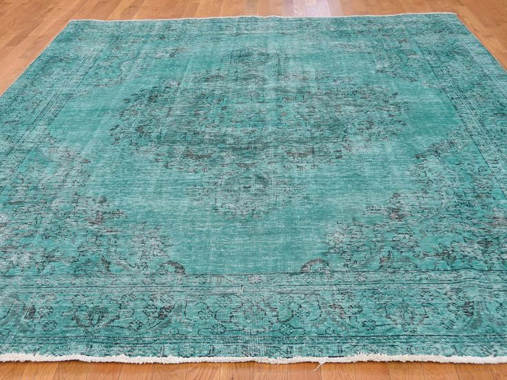 8'4''x10'6'' #Overdyed Worn #Persian #Tabriz #Hand-Knotted #Oriental #Rug #sale #home-decor