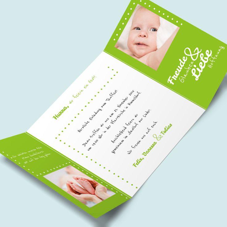 Babykarten Online Selber Machen Und Freude Auf Die Bevorstehende Taufe  Verbreiten. Die Einladungskarten Zur Taufe Bei MyCardShop Ganz Einfach Mit  Taufspruch ...