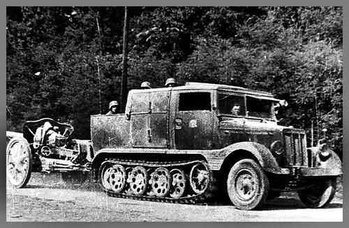 Hansa-Lloyd Tractor in Honved Army