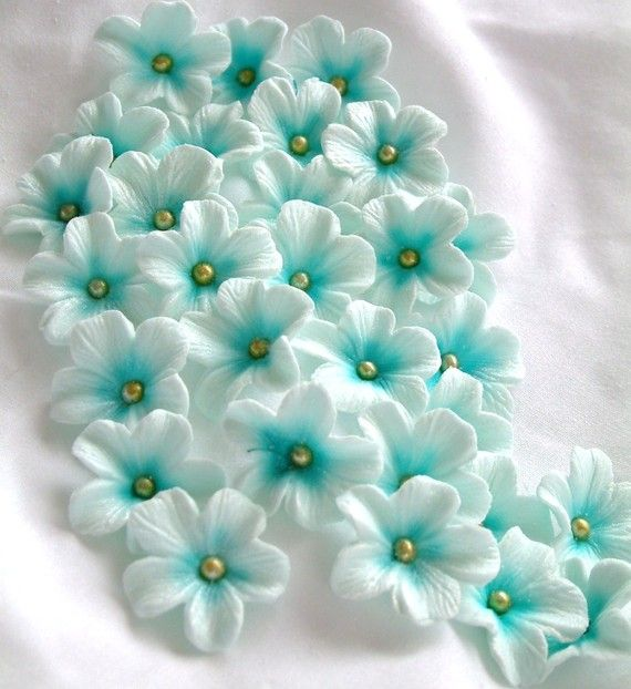 Gumpaste Cake Decorations Tiffany Blue Gum Paste by SweetEdibles ~ Amazing edible embellishments