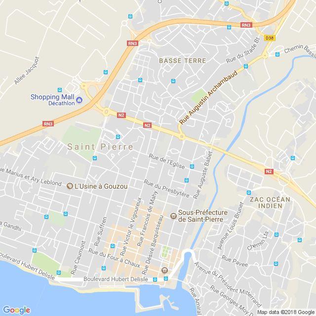 www.CartesFrance.fr - Impression du plan de Saint-Pierre
