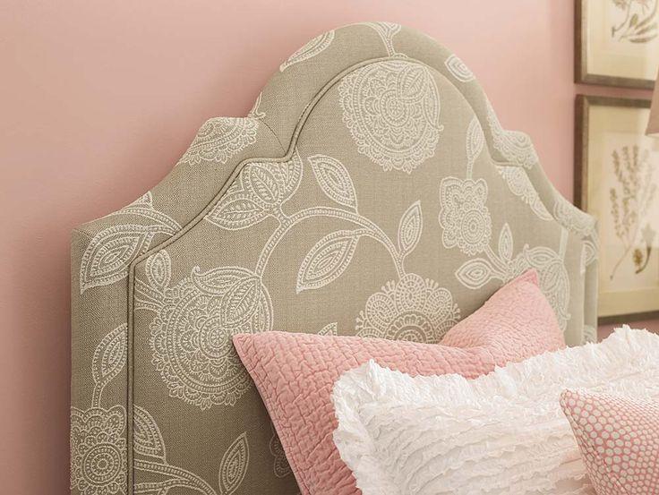 HGTV Custom Upholstered Barcelona Bonnet Bed By Bassett Furniture.