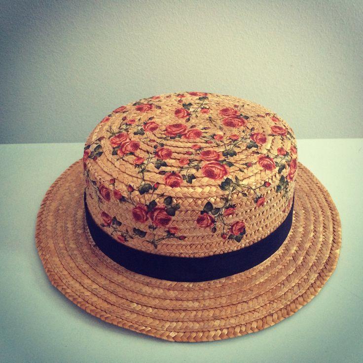Sombrero canotier personalizado. crislopapa@gmail.com, no dudes en consultarme
