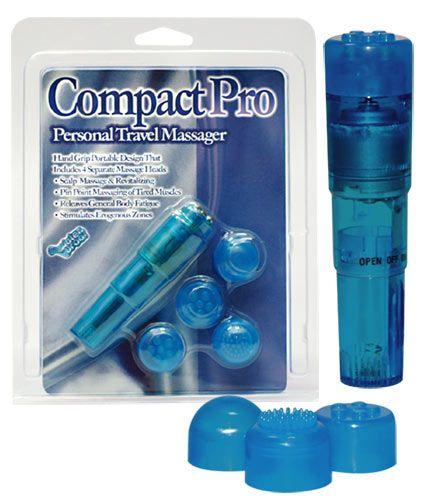 Compact pro massager - blå fra Orion - Sexlegetøj leveret for blot 29 kr. - 4ushop.dk - Kraftfuld mini vibrator sæt som passer i enhver håndtaske. Er vandtæt.