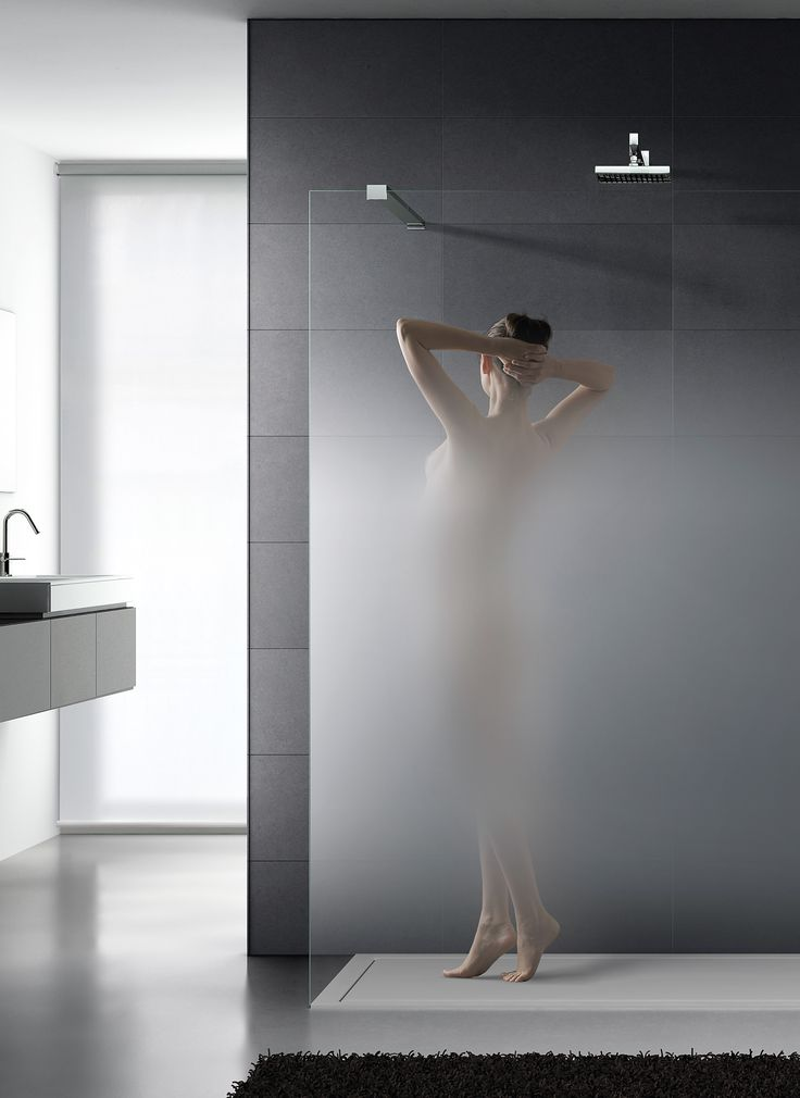 Decor Sat satin-etched glass from Italy, 'Nuvola' offers a soft gradient for more elegant partially private glass