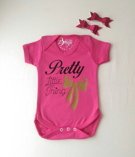 Check out this item in my Etsy shop https://www.etsy.com/uk/listing/513606325/pretty-little-thing-hot-pink-baby-grow