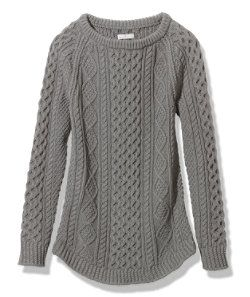 #LLBean: Signature Cotton Fisherman Tunic Sweater