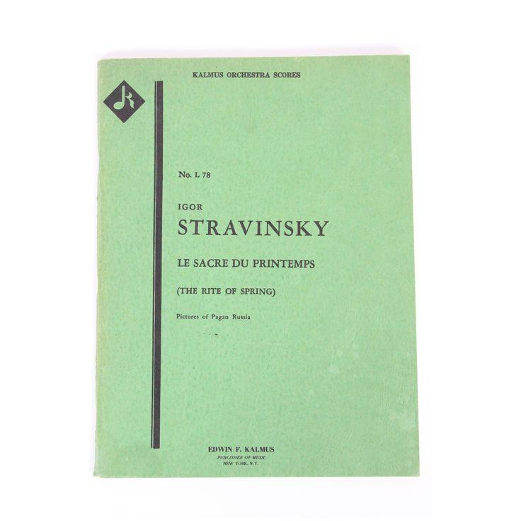 Igor Stravinsky La Sacre Du Printemps (The Rite of Spring); Pictures of Pagan Russia (Kalmus Miniature Orchestra Scores No. 78)