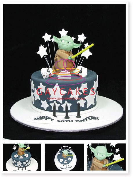 star wars cake decorations | star wars cake yoda was never a push over and being part of a cake ...
