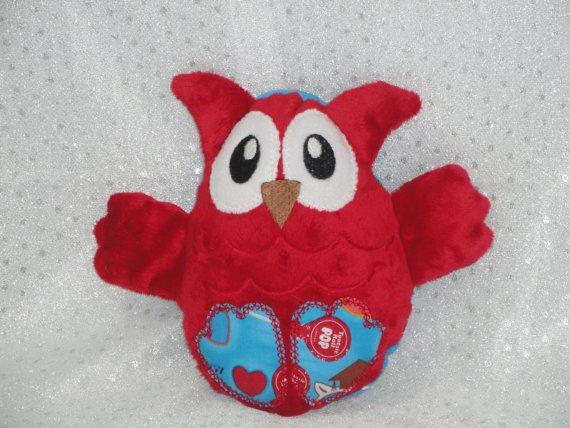 Tootsie Roll Owl Stuffed Toy/ Stocking Stuffer/ Stuffed Animal/ Plushie/ Owl Softie/ Owl Peekaboo/ Reversible/ Peekaboo Owl
