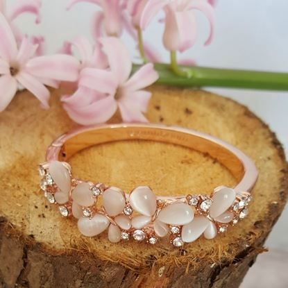 Show details for Equilibrium - Rose Gold Butterfly Hinge Bangle
