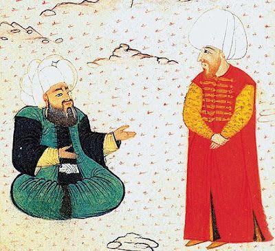 Molla Güranî (oturan) & Fatih Sultan Mehmet Han