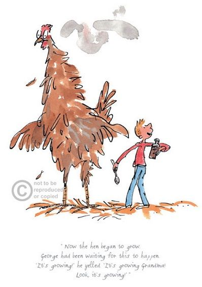 Roald Dahl The Hen Began to Grow Limited Edition Print l Contemporary Art