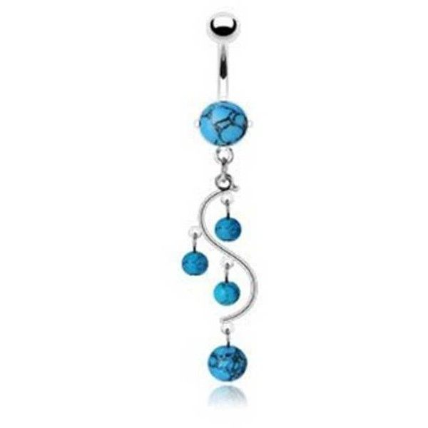 Bling Jewelry Blue Ivy Charmer Body Jewelry ($15) ❤ liked on Polyvore featuring jewelry, belly ring, body jewelry, earrings, piercings, blue, body-piercing-rings, ivy jewelry, belly button rings jewelry and body jewellery