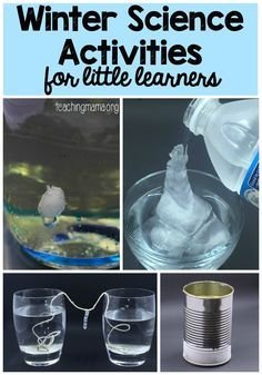Winter Science Activities Packet for Little Learners - neat hands-on science activities about ice, frost, icicles and more!