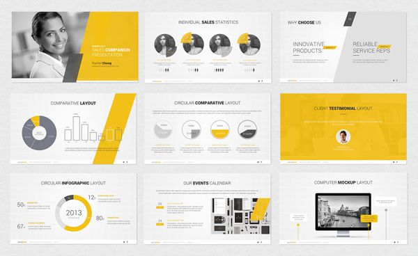 powerpoint template by design district via behance