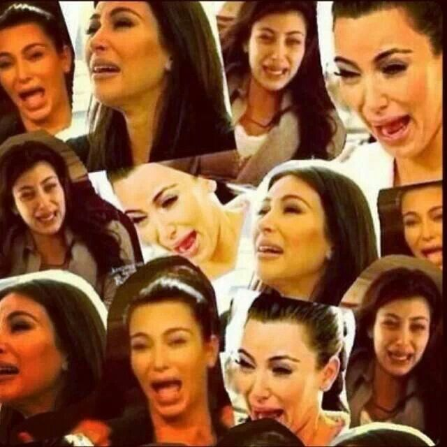 1000 ideas about crying face on pinterest smiling faces - Kim kardashian crying collage ...