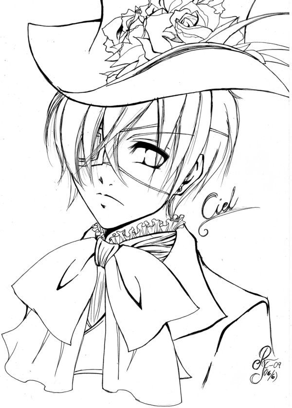 ciel phantomhive fan art by lo chan07 on deviantart coloring page ciel phantomhiveanime cosplayblack butlerfan - Black Butler Chibi Coloring Pages