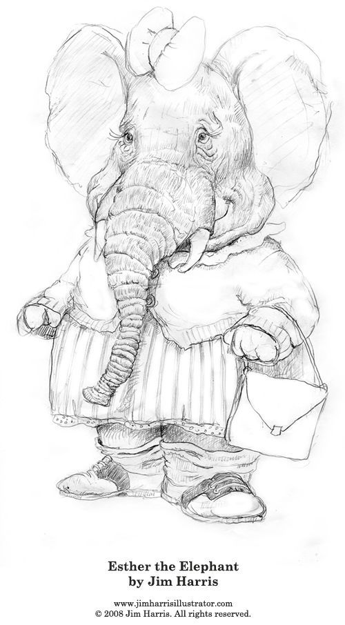 Elephant Coloring Book 1067