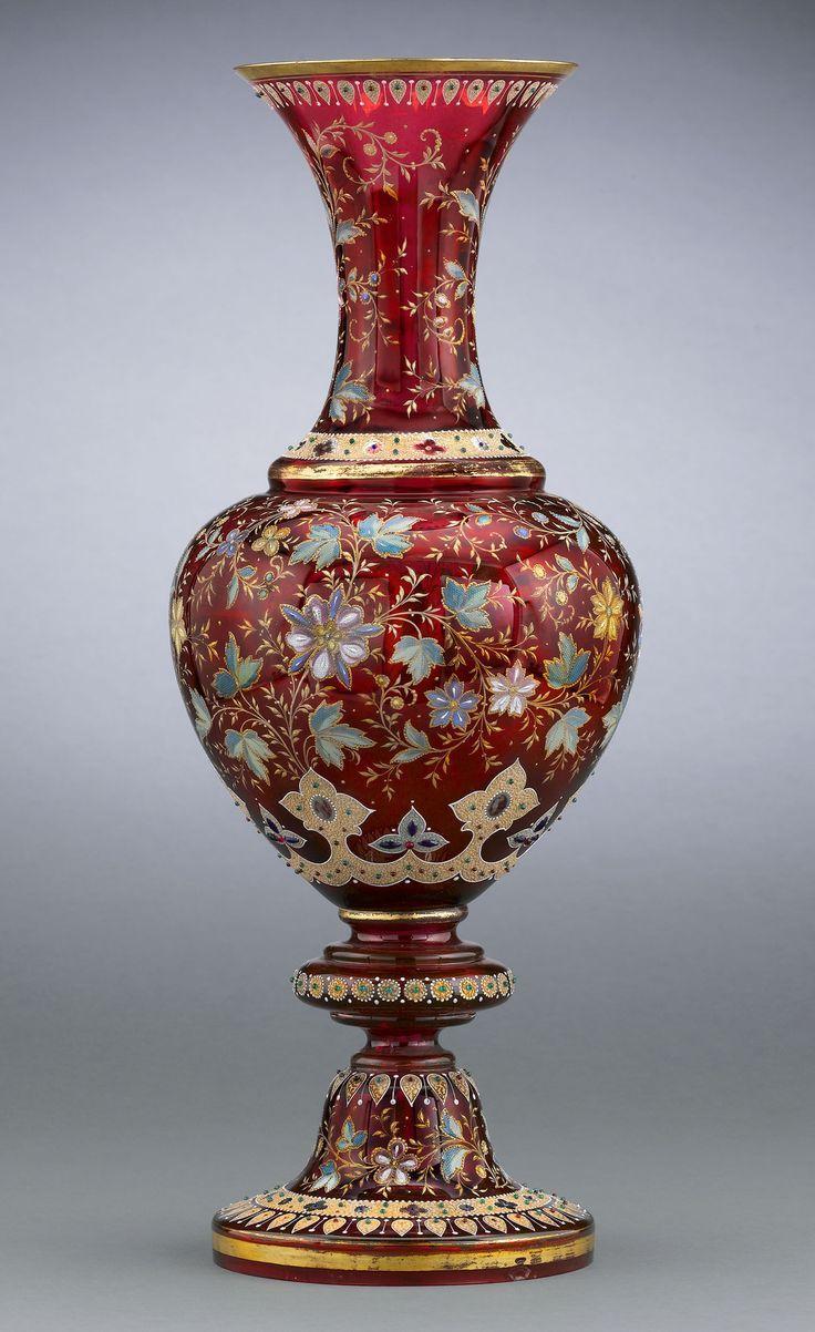 146 best moser glass images on pinterest glass vase antique antique moser vase ruby glass reviewsmspy