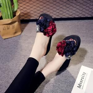 Summer Shoes Woman Flower Flip Flop Slipper Indoor Outdoor Flip-flops Beach Shoes