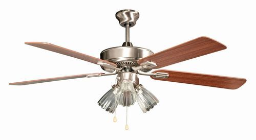 Marcos 52 Inch 5 Blade Stainless Steel Ceiling Fan with Light Kit - 52SM5EST