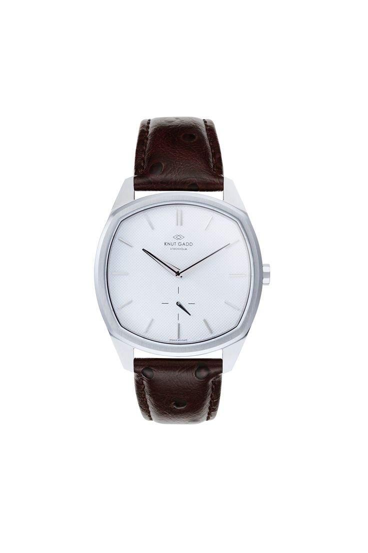 #knutgadd #knutgaddstockholm #watches #brownleather #silverwatch #fashion #wristwatch  #wristband #style
